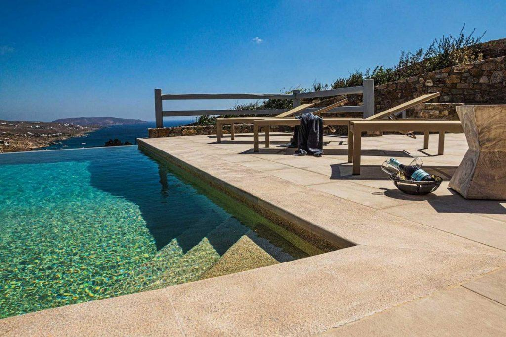 outdoor area with comfort climbers and infinity pool