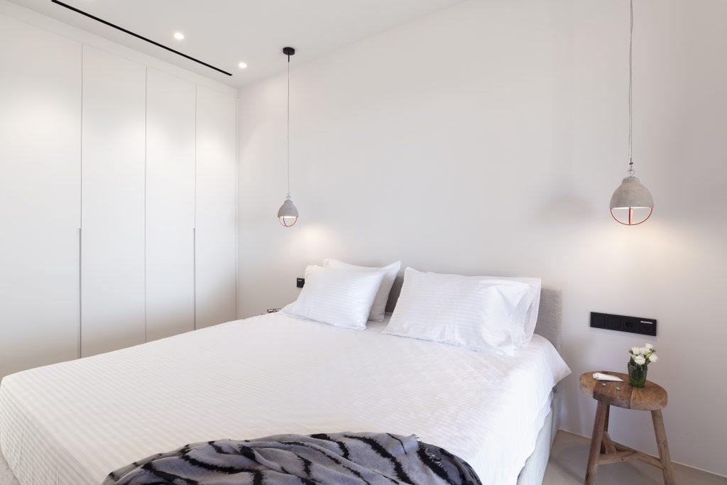 cozy bedroom with giant wardrobe closet to put your clothes