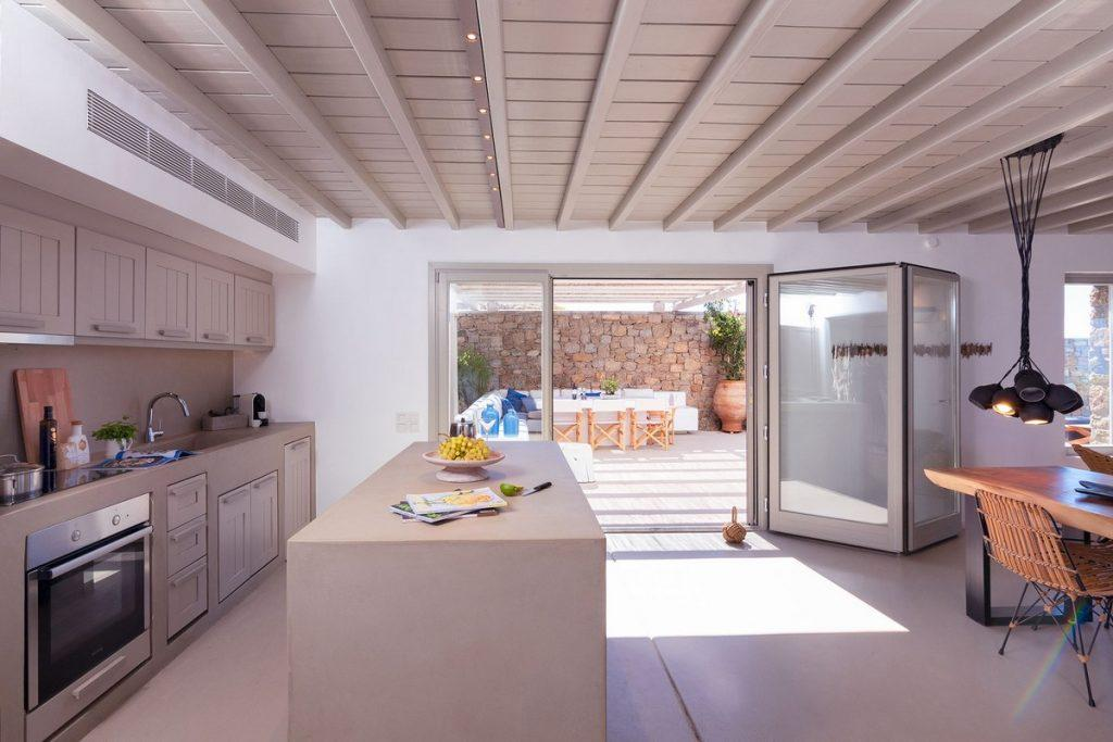 modern designed kitchen with direct exit to the balcony