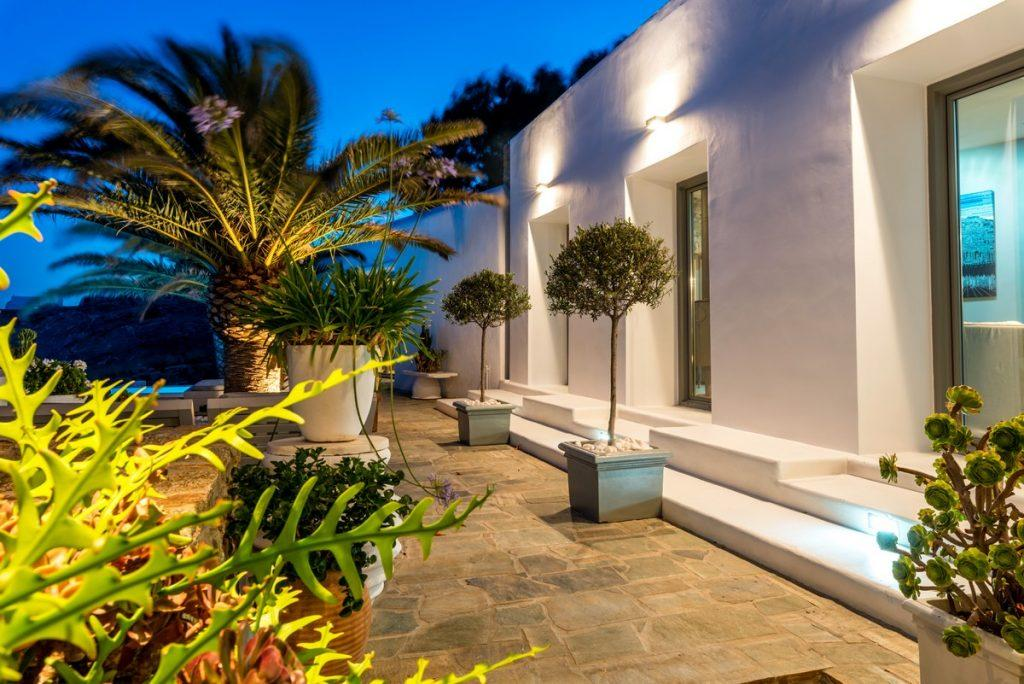 white wall spacious villa with beautiful offer