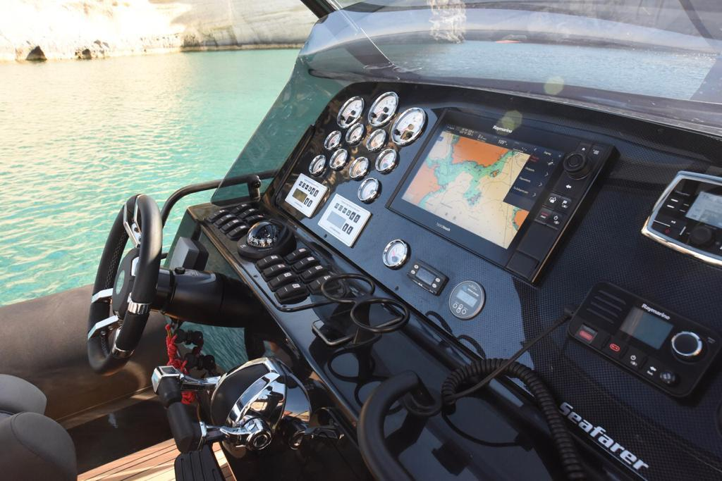 command board of a yacht