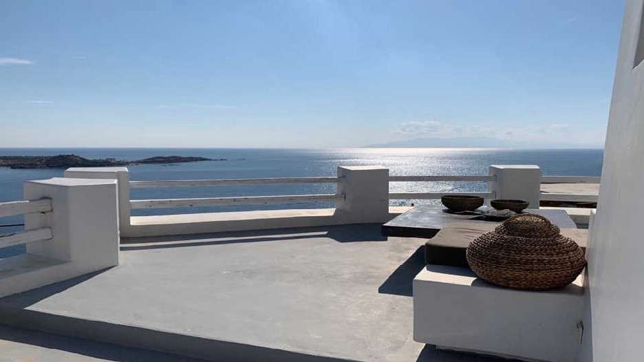 balcony overlooking the sunlit sea ideal for enjoyment