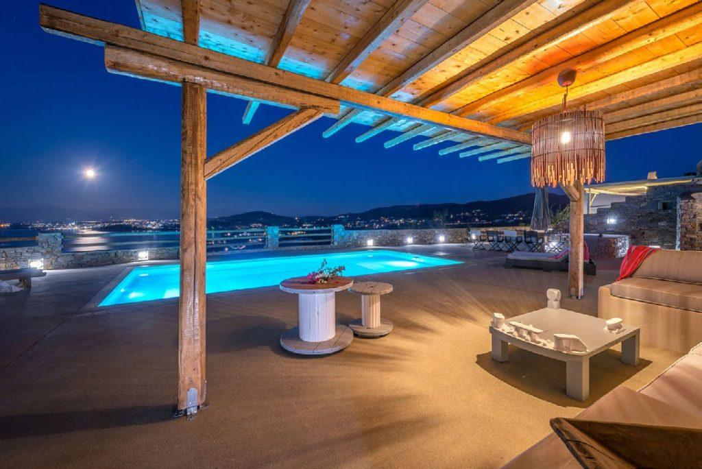 pool porch area beneath soiree terrace ideal area for throwing a party or enjoying with friends in the evening