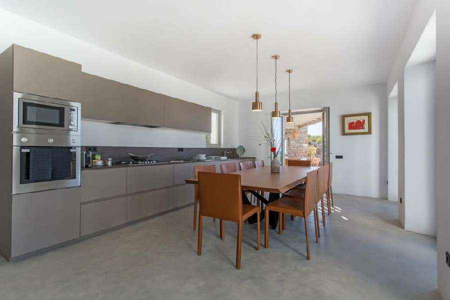 applied layout kitchen with all required appliances including microwave