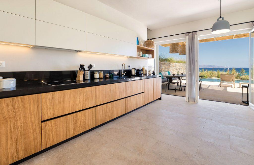 fully equipped applied layout kitchen