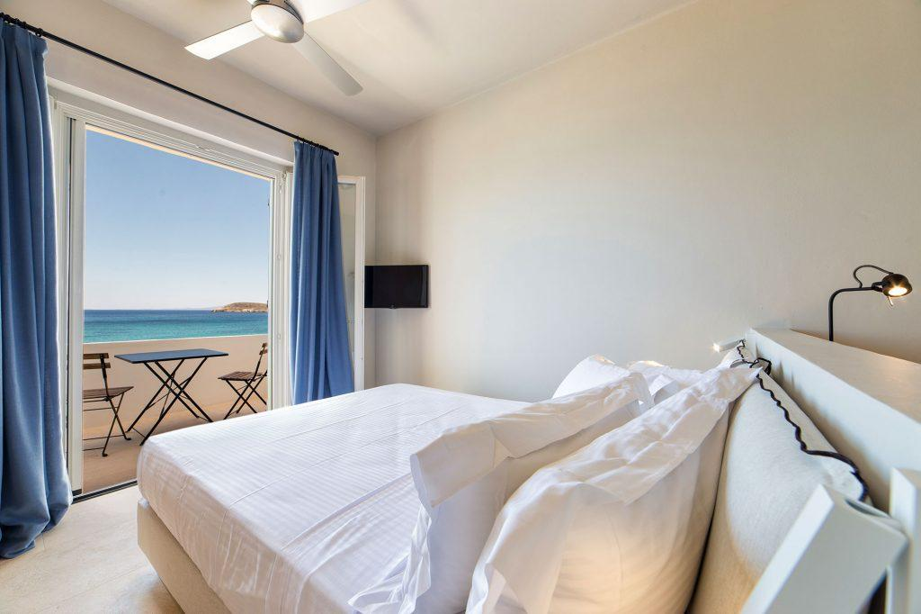 lavishly designed bedroom with great sea view