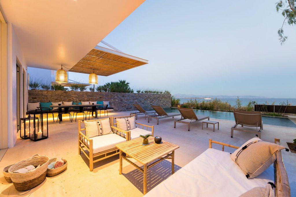 great place to sit down with your friends and family to relax after a long day by the pool