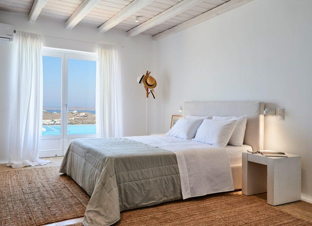 simply designed room for two with king size bed