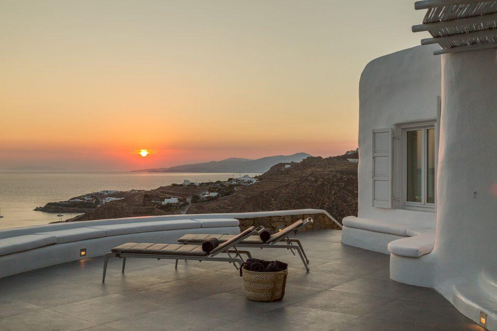 outdoor area designed for enjoying the sunset