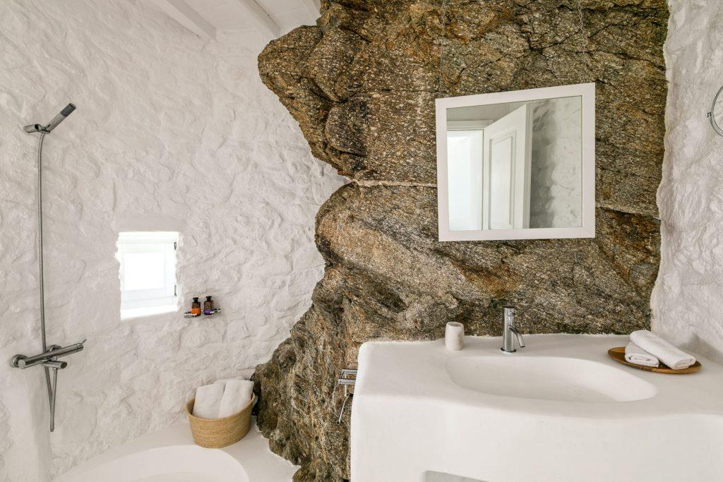 simple designed bathroom for showering and cleaning