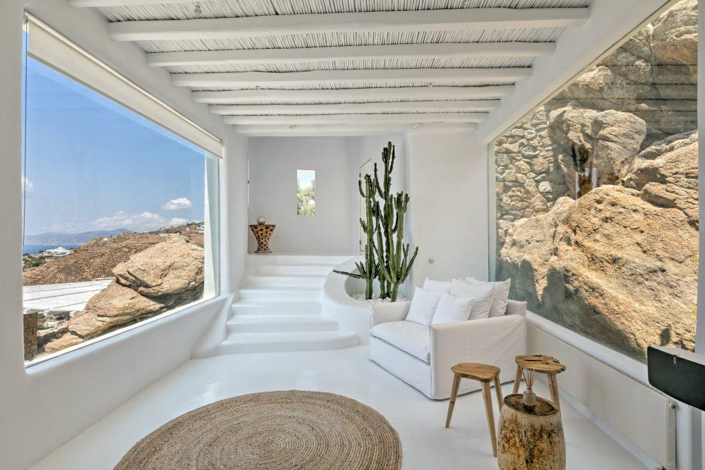 area with armchair in the corner with breathtaking view