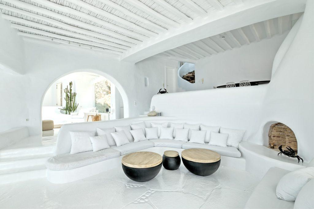 living area with big sofa to gather with friends and family