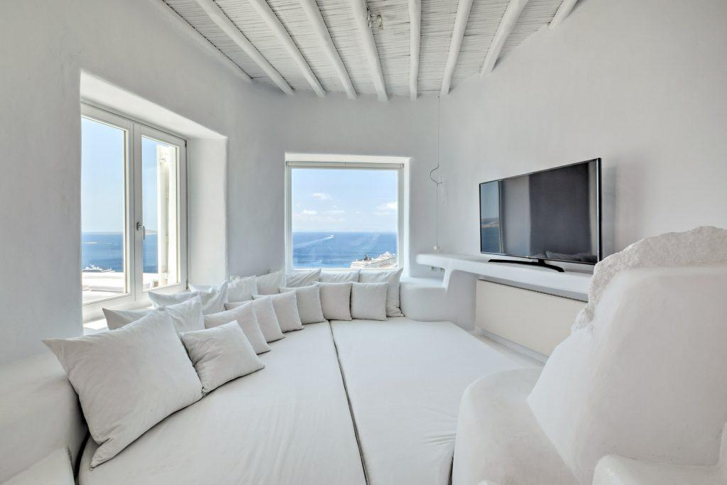perfect place to enjoy beautiful sea view while chilling on bed