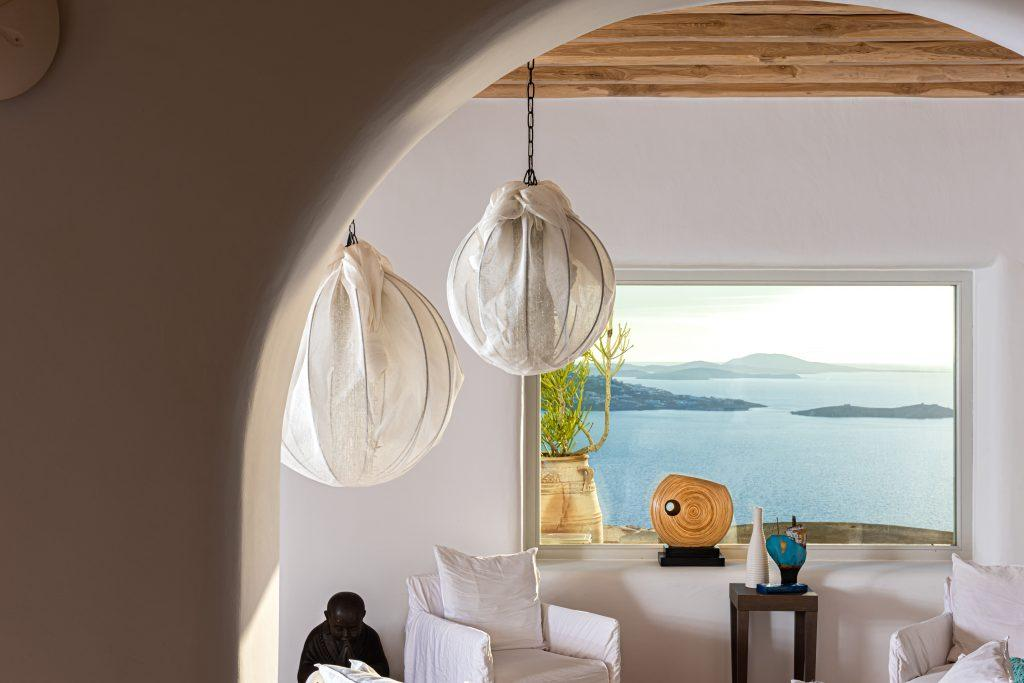 corner area with beautiful sea view from the window