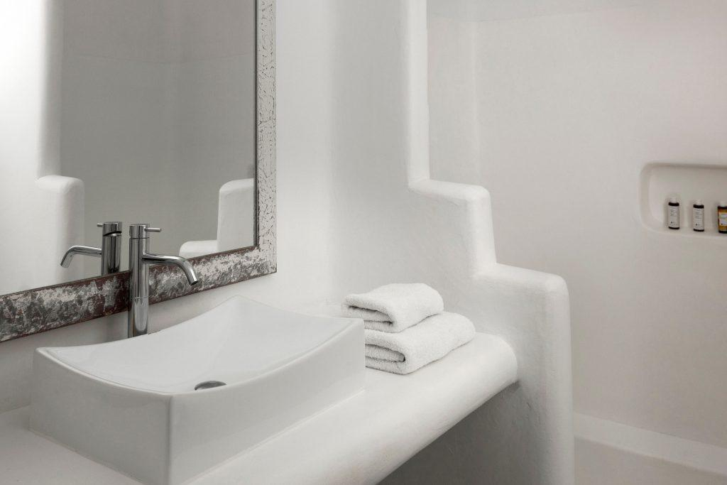bathroom with soft white towels