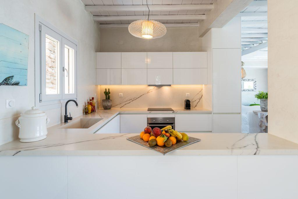 luxury kitchen with high gloss elements and modern appliances