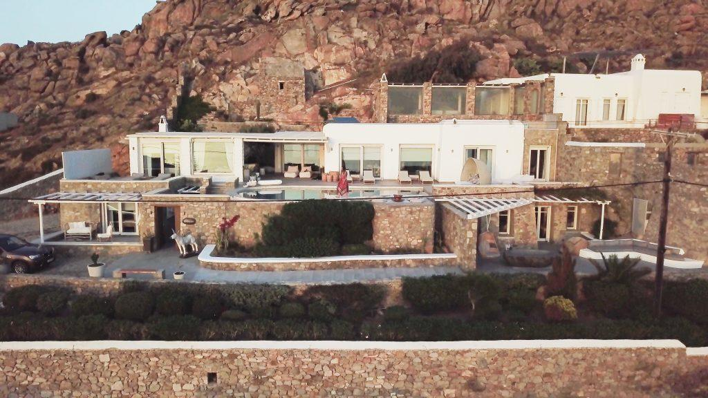 huge luxury villa with stone walls and private parking