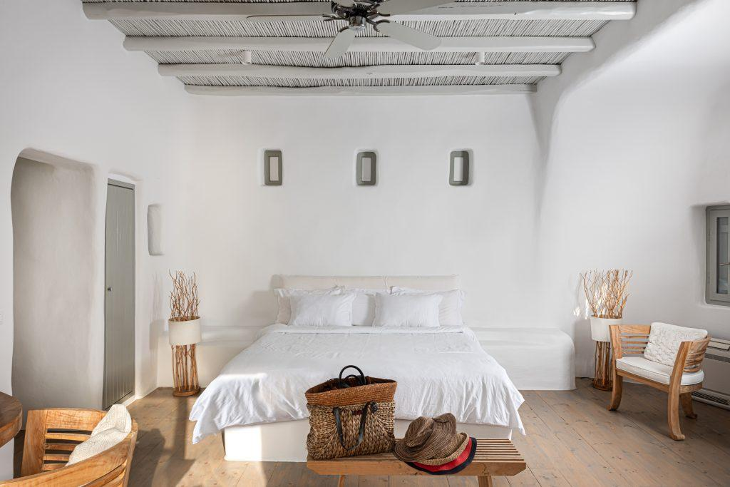 bedroom with huge bed and soft pillows