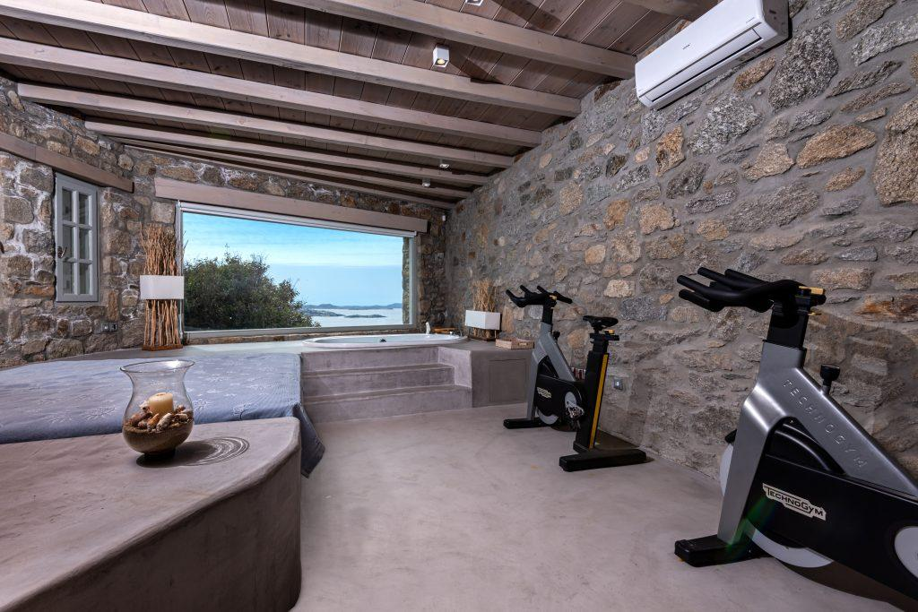 area with bicycles and stunning outdoor view
