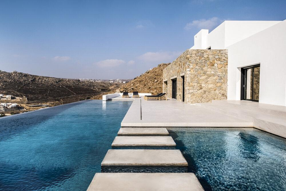 outdoor area with spacious pool and beautiful view