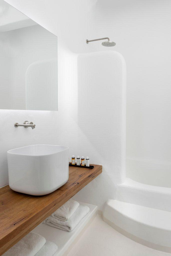 bathroom area for showering and washing up