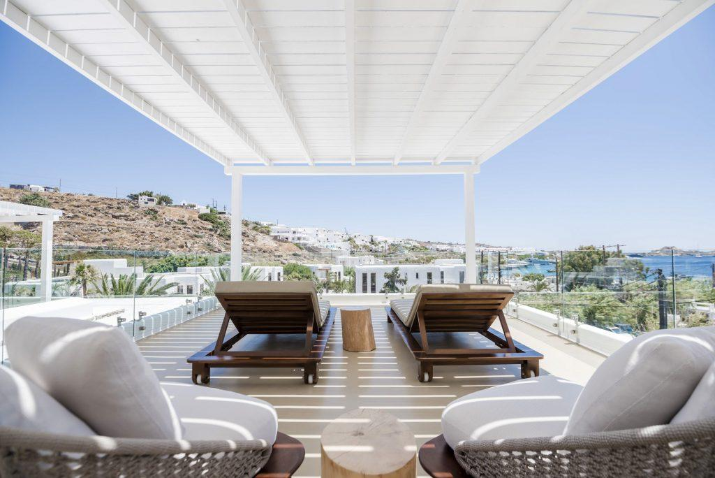 terrace view with climbers to enjoy the sea view