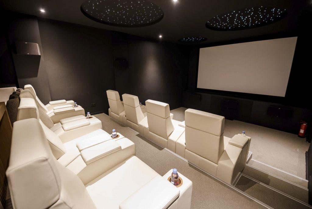 indoor cinema perfect for a movie with friends and family