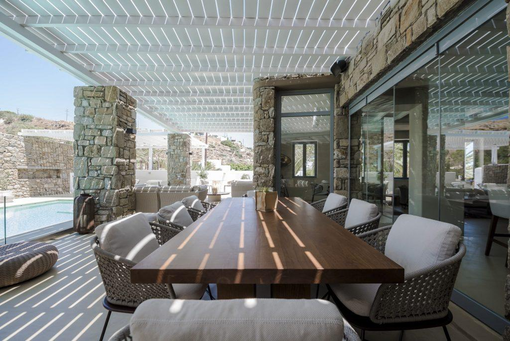 outdoor dining area perfect for gathering with friends