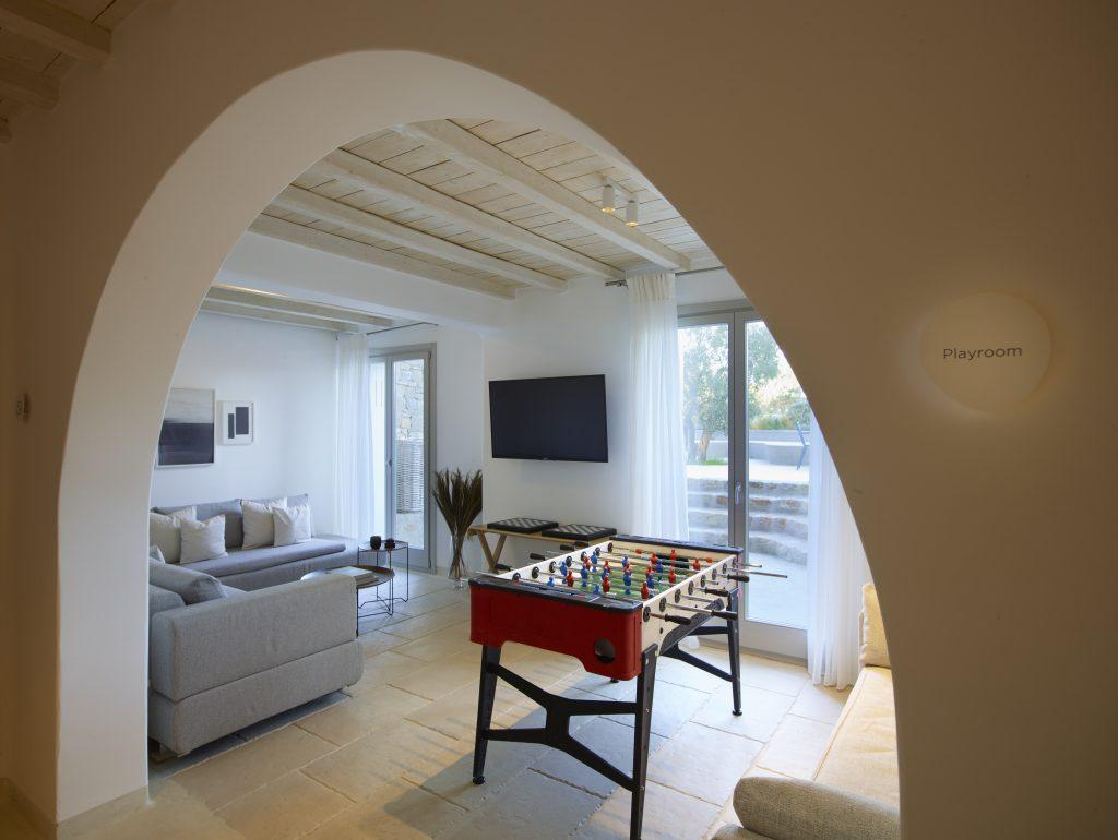 perfect indoor place to enjoy with your friends watching TV or playing table football