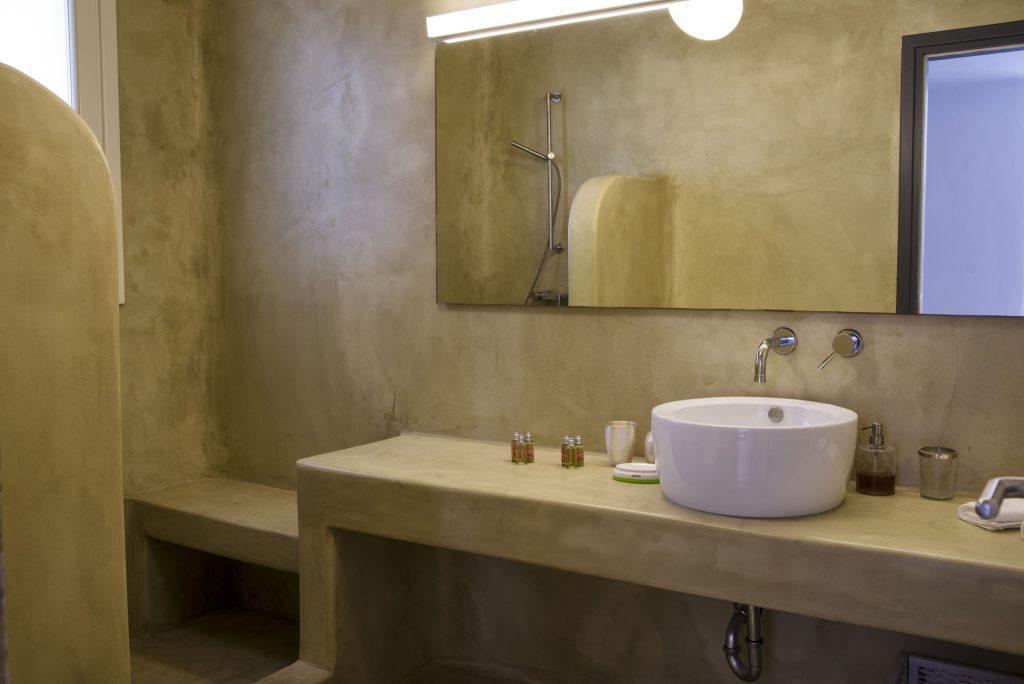 modern designed bathroom for showering and cleaning