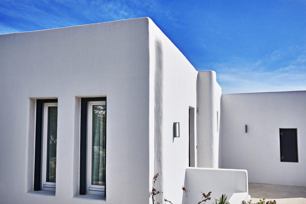 white wall spacious villa with sky view