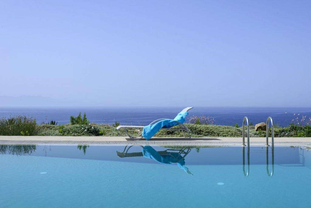 outdoor pool area with beautiful horizon view