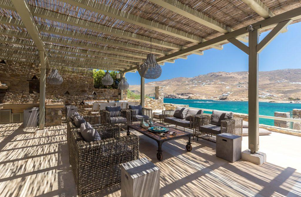 outdoor dining area with beautiful view