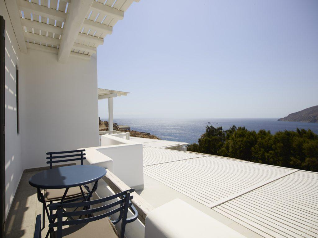 stunning view of sea horizon perfect to have a drink and relax