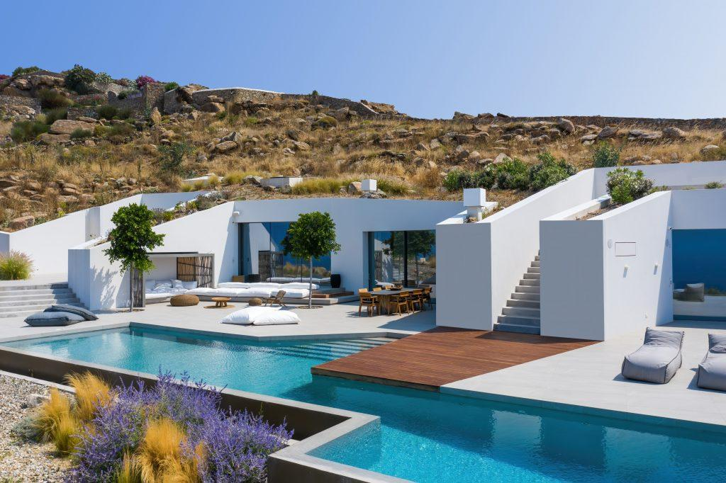 beautiful white villa walls with stunning outdoor