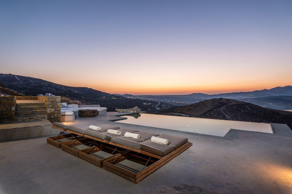 outdoor pool area with climbers with beautiful island view