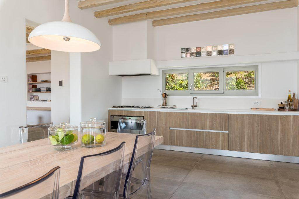 ultra modern designed kitchen with all of it's equipment for preparing favourite meals