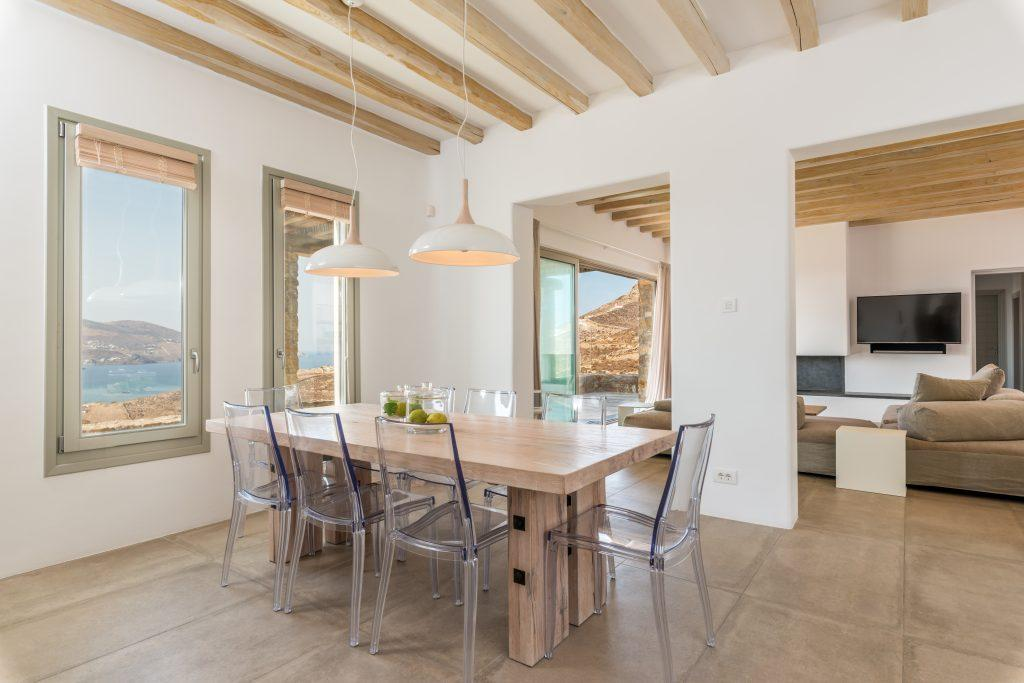 dining area with beautiful sea view from the windows