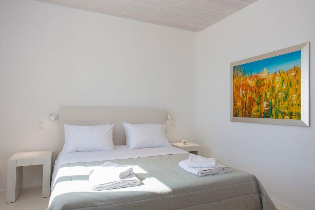 bedroom white with bright yellow decorative image
