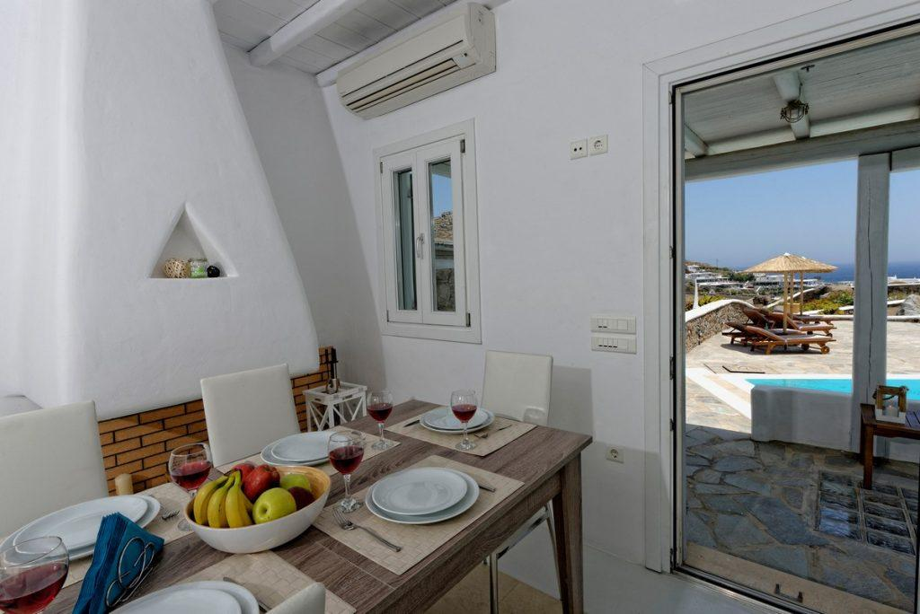 dining room in white tone is the perfect place for a pleasant lunch with friends and family