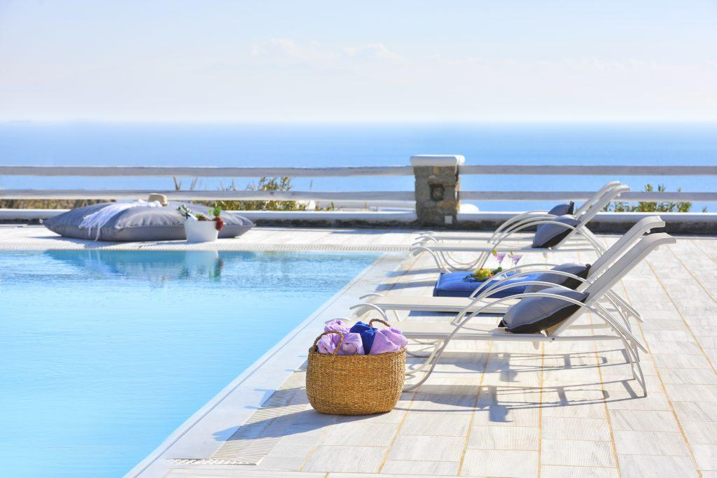deck chairs with soft pillows perfect for sunbathing