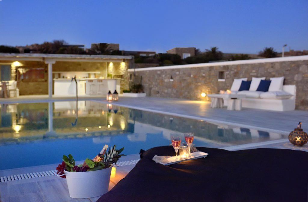 ideal place to enjoy champagne and tropical fruits by the pool
