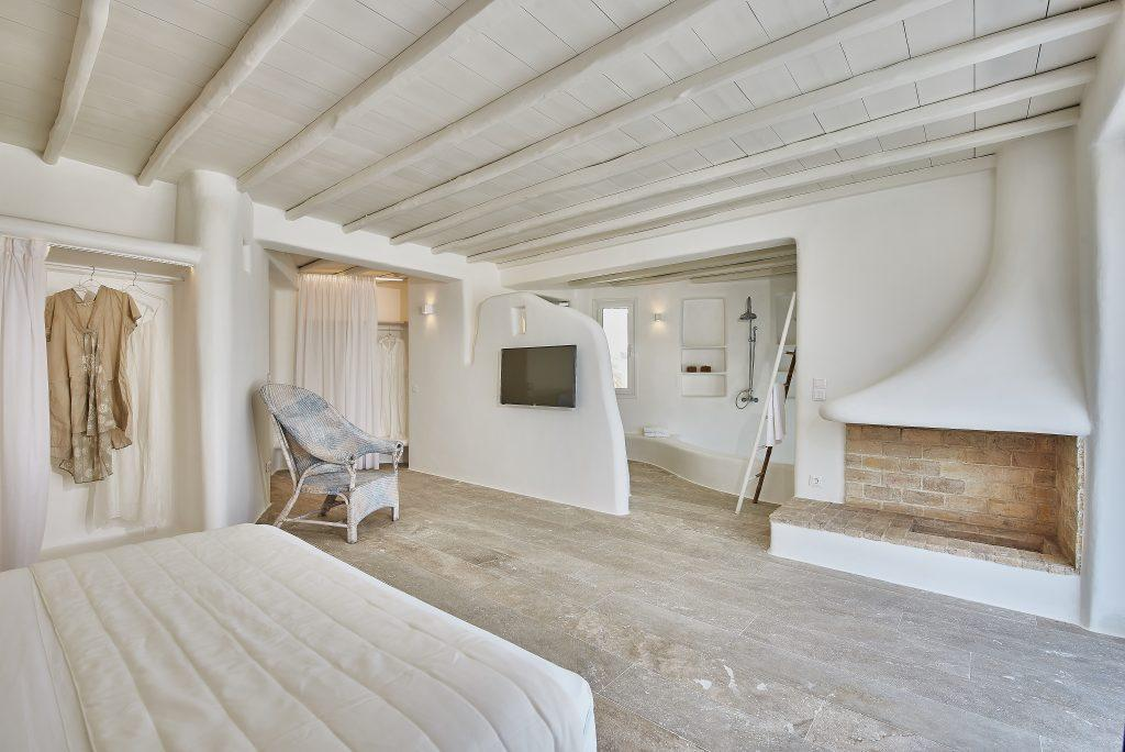 modern double bedroom with king size bed and TV ideal for relaxing