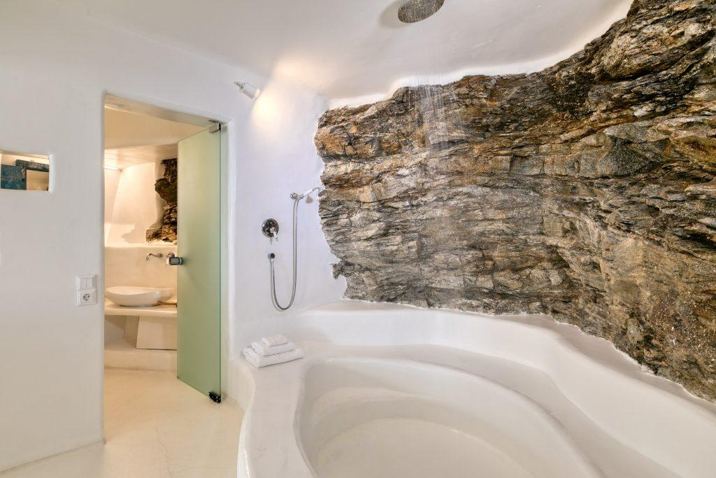 room with a modern private bathroom