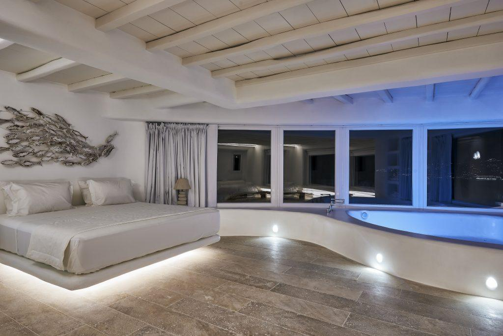 dimly lit room for two ideal for a romantic night