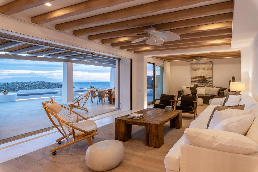 well organized living room to enjoy sunset and have fun with your friends