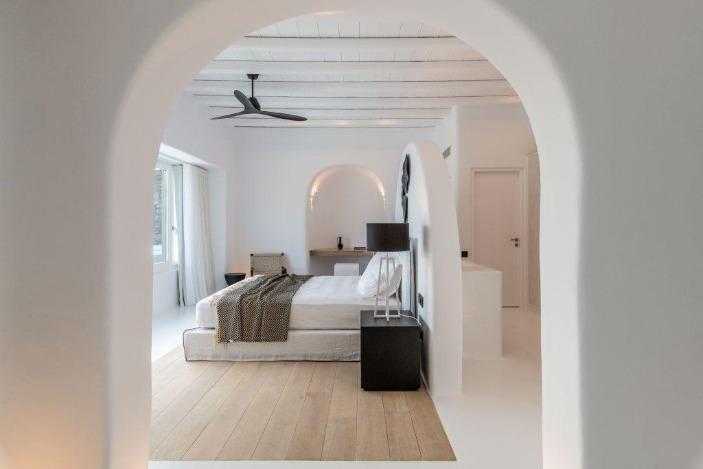 natural lighted master bedroom with adjoin bathroom