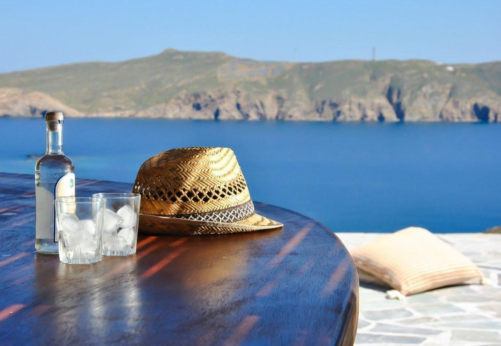 ideal place to enjoy a cold drink and summer breeze overlooking the calm blue sea