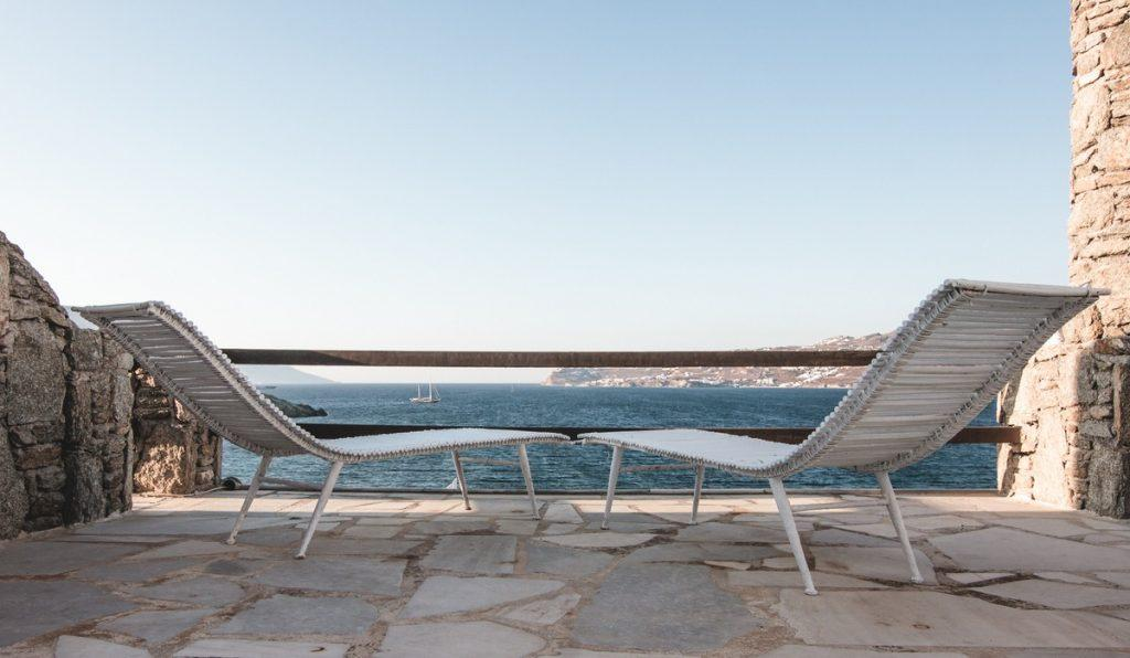 perfect place to sunbathe and enjoy the beautiful view of the glistening blue sea