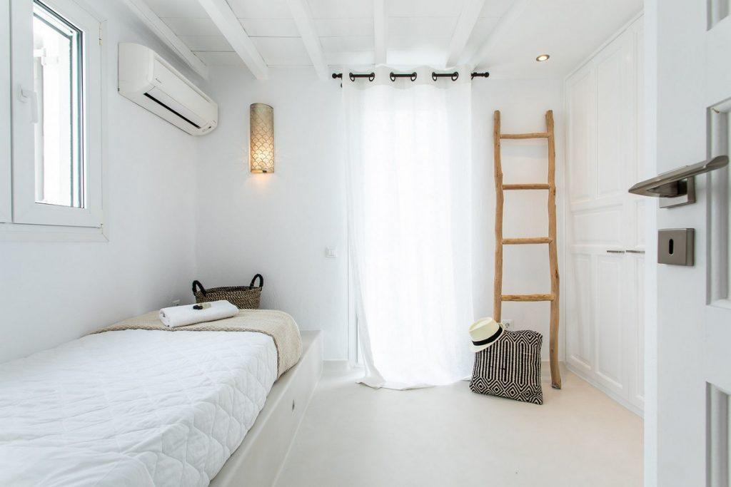 beautifully bedroom with cozy bed and soft pillows for relaxing
